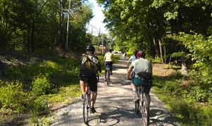 bikers on trail